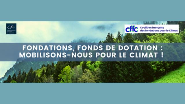 Fonds et fondations, signez le Manifeste pour le Climat !
